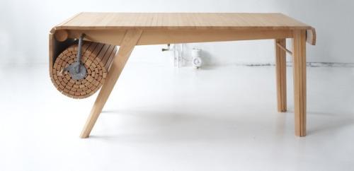 Oprolbare tafel