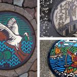 Bontgekleurde putdeksels van Japan
