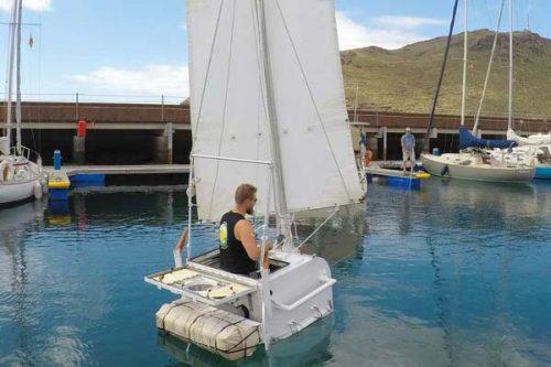 Zeilboot van 1 meter