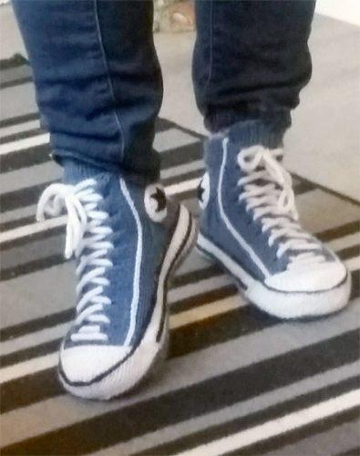 gebreide sneakers
