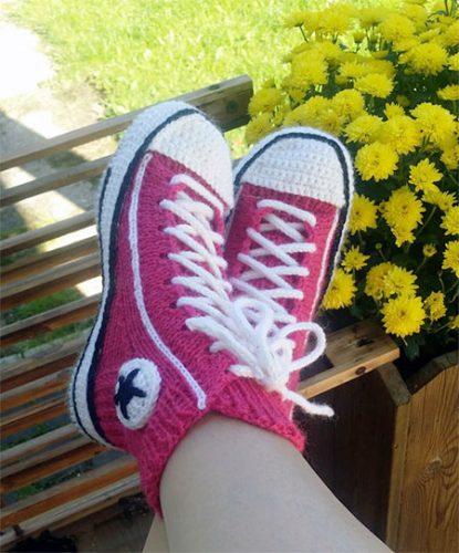 gebreide schoenen