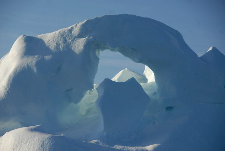 Grootte van gigantische ijsberg