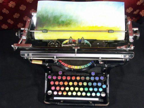 kleuren typemachine