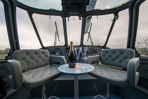 logeren in een helikopter