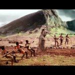 Lopende beelden op Paaseiland