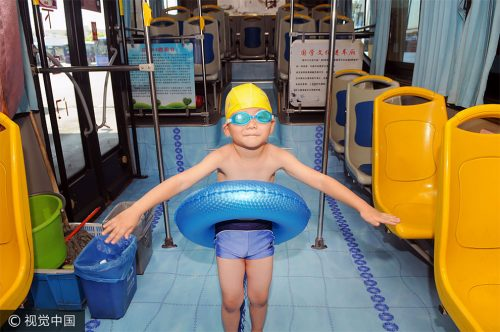 zwembad bus