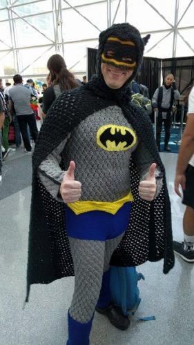 gehaakt batman kostuum