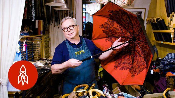 Monsieur Pep: De man die paraplu's repareert