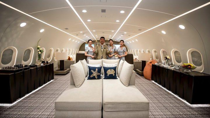 Binnenkijken in de privé Boeing 787 Dreamliner
