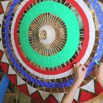 Japanse paraplu: Yodoe oliepapier paraplu
