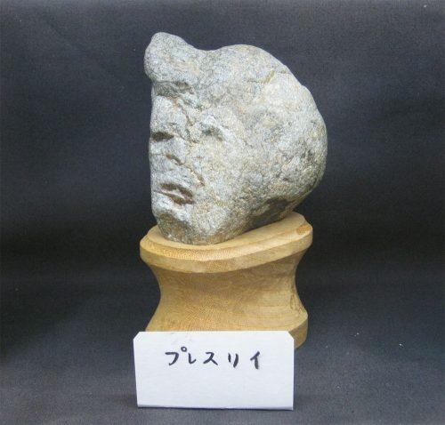 stenen met menselijke gezichten