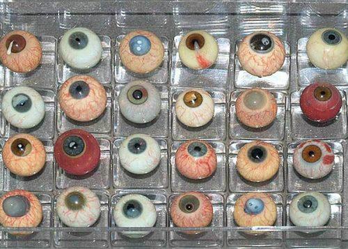 glazen ogen