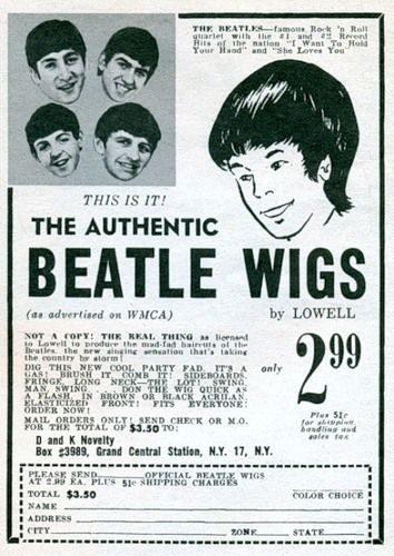 Beatle pruik