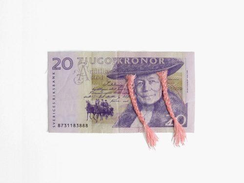 Bankbiljet met kapsel