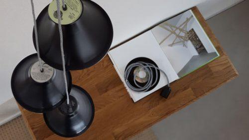 lamp van vinyl