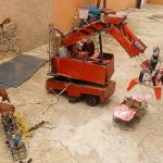Robots van afval en afgedankte materialen