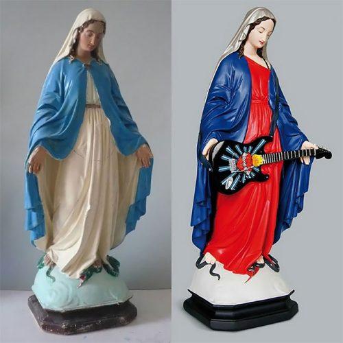 Maria als rockster