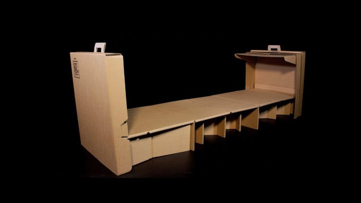Draagbare kamer van karton