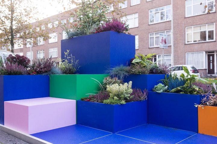 Kleurrijk miniparkje in Rotterdam