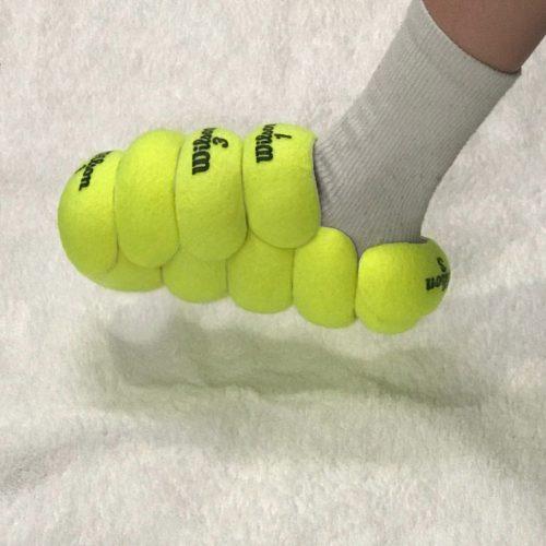 schoenen van oude tennisballen
