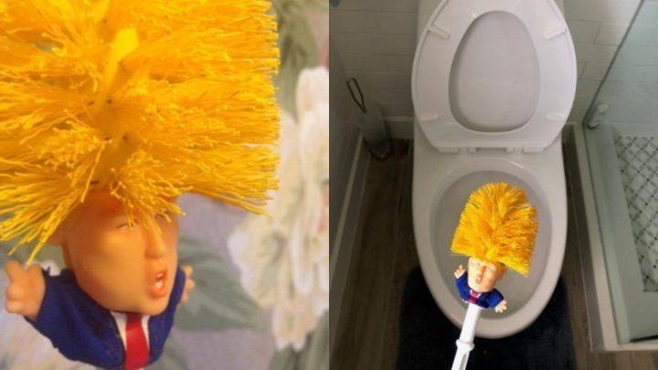 Trump op het toilet