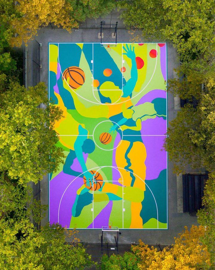 basketbal veld