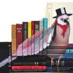 Boekenkunst van afgedankt leesvoer