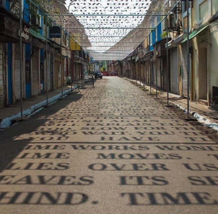 Filosofische straatkunst van Daku