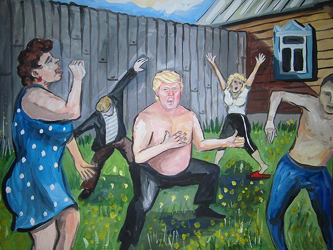 Trump als een Rus