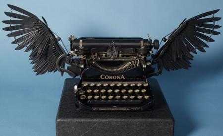 typemachine met vleugels