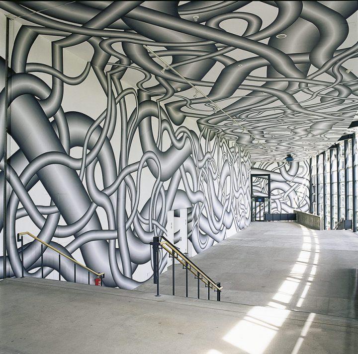 Virtuele doolhoven van Peter Kogler