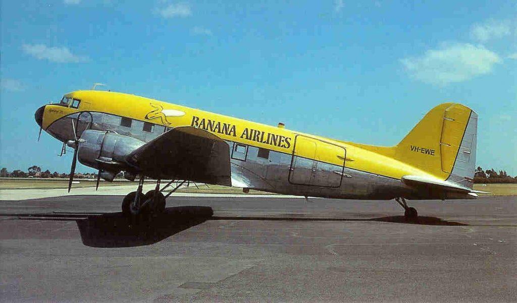 banaan vliegtuig