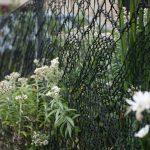 Hekken breien om tuin te omheinen