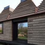 Huis van kurk gebouwd van legoblokken