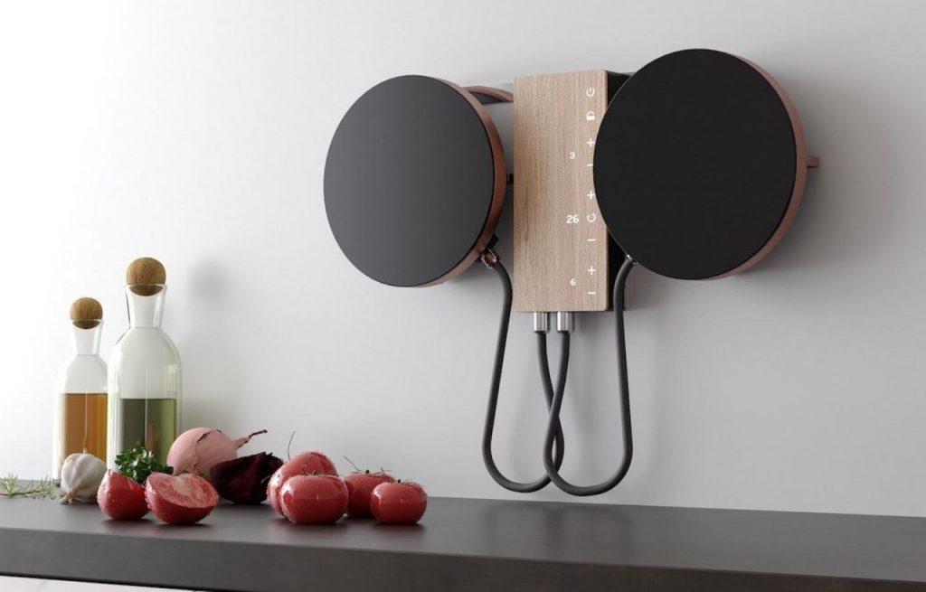 kookplaat voor aan de muur