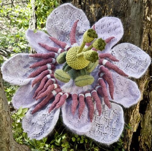 Gebreide bloem
