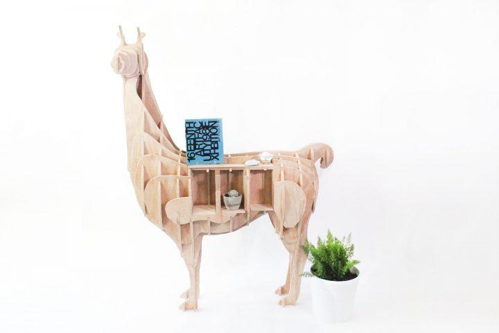 Lama boekenkast