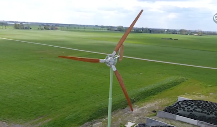 Het succes van de houten windmolen
