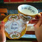 Beledigende theekopjes van Miss Havisham