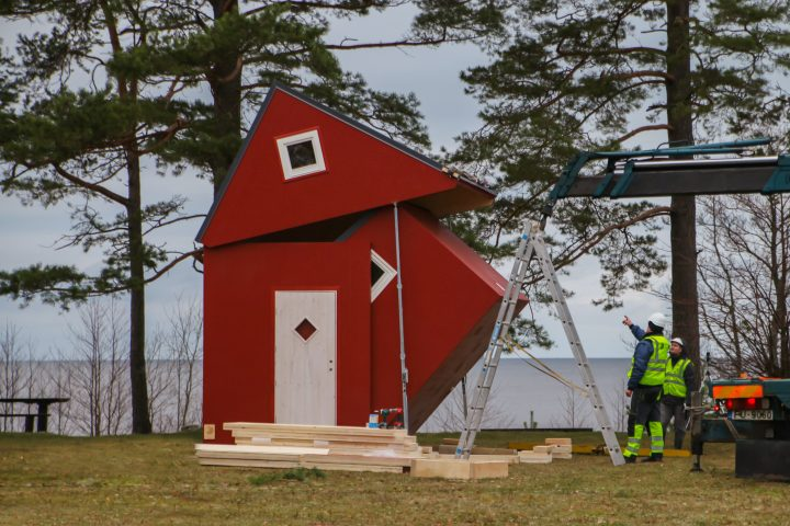 Brette Haus: Opvouwbaar lego huis