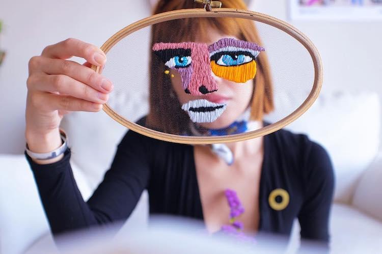 geborduurde maskers