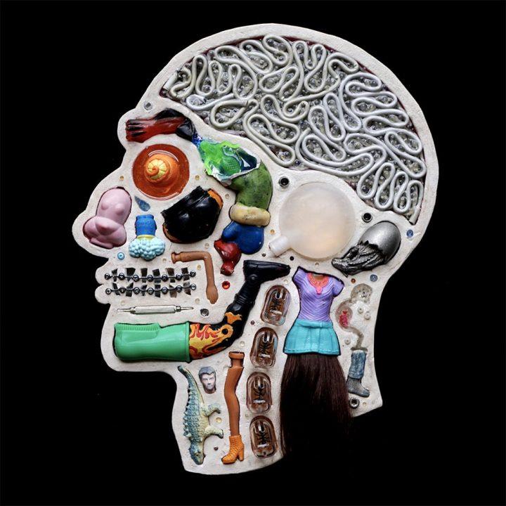 Portret van de binnenkant van het hoofd
