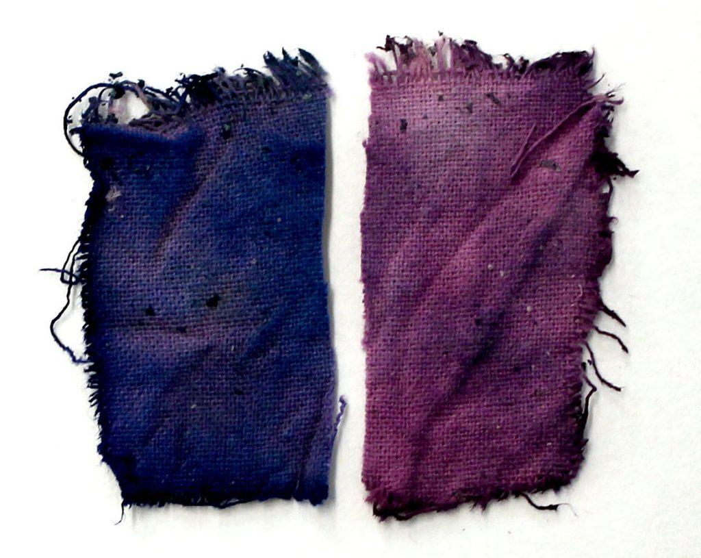 recept van de middeleeuwse blauwpaarse kleurstof