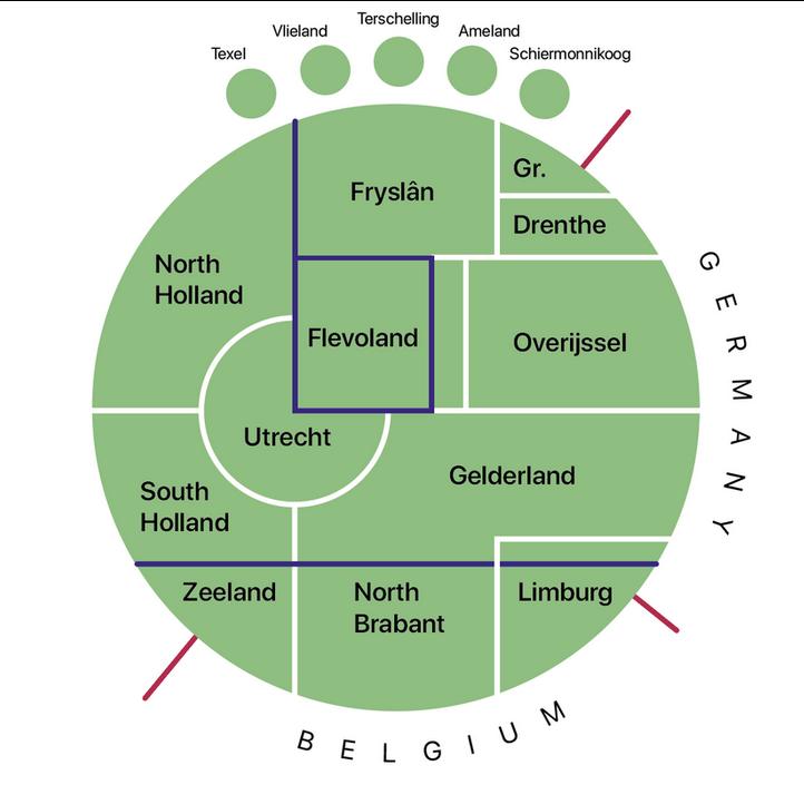 topografische kaart van Nederland