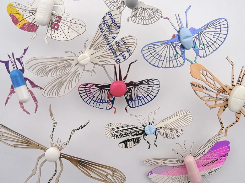 insecten gemaakt van pillen