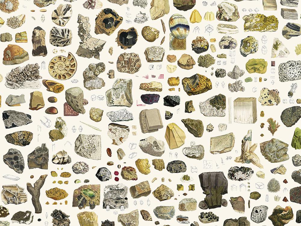 kaart van mineralen