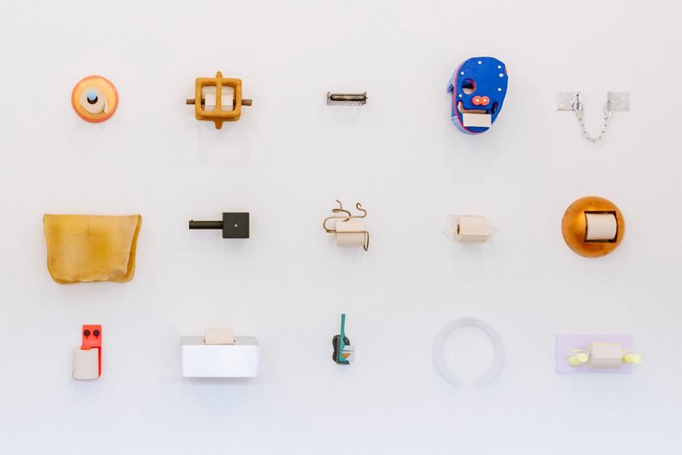Toiletrolhouder expositie