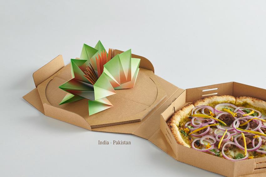 Pizza als symbool van vrede