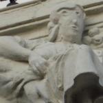 Mislukte restauratie van Palencia beeld. Is het Trump?