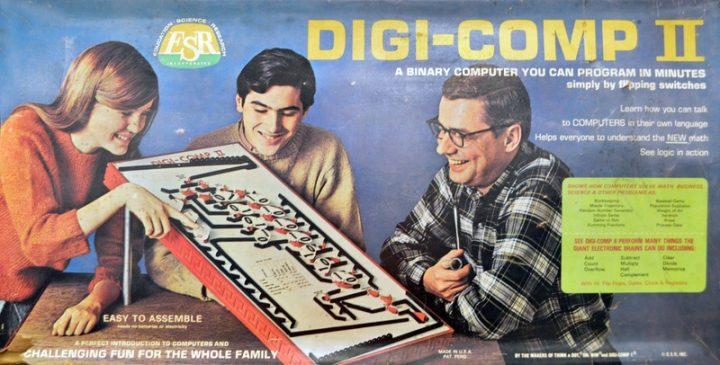 Digi-Comp II: houten computer om rekenen leuk te maken